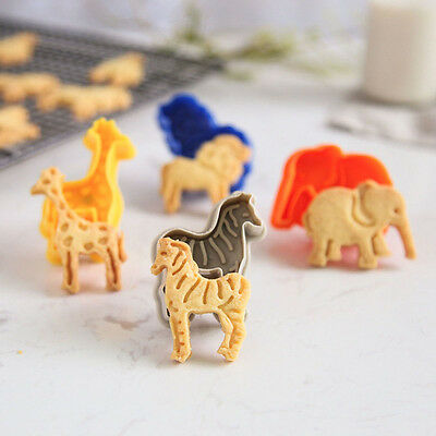 Food Grade Plunger Animal Shape Fondant Cake Cutters Cookie Mold Sugar Craft