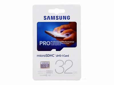 Samsung 32GB PRO Micro SDHC Memory Card - Class 10 - UHS-I U3 - Up To 90MB/s.