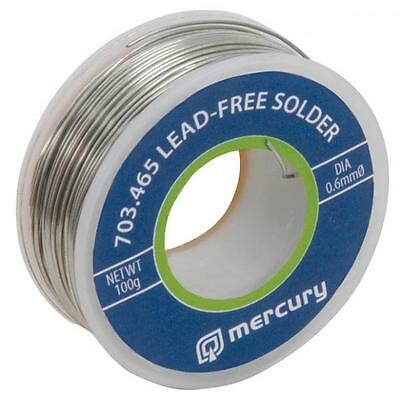 Mercury 703.465 High Quality Lead Free Solder Reel 100g 0.6mm 2.2% Flux 65m Tub