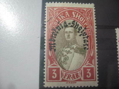 Timbre Albanie 1927 - 1929 - Surcharge Neuf* 3 Fr