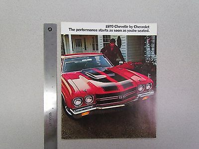 Vintage 1970 Chevrolet / Chevy Chevelle Catalog / Brochure: Has SS / Supersport