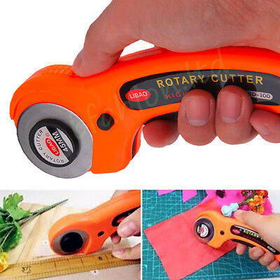 45mm Sharp Round Rotary Cutter Sewing Quilting Roller Fabric Cutting Craft Tool