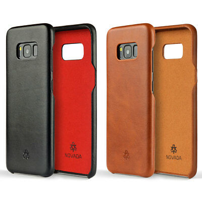 Novada Genuine Leather Back Cover Case for Samsung Galaxy S8+ & S8