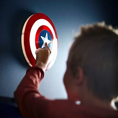Marvel Captain America Shield 3D Wall Light - Childrens Bedroom Free P+P New