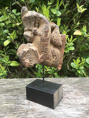 Vintage Antique Wood Carving Of A Horse Believed Asian Indian