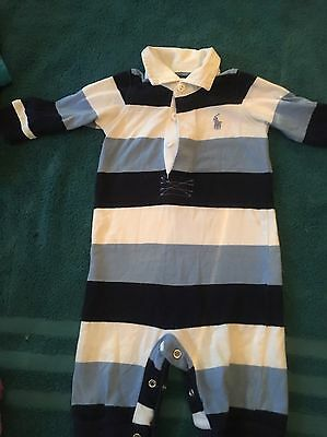 Ralph Lauren Baby Grow And Hat Age 3months
