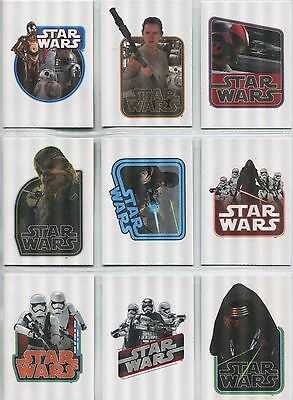 Star Wars JTTFA Complete Cloth Stickers Chase Card Set CS1-9