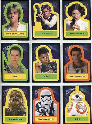Star Wars JTTFA Complete Character Stickers Chase Card Set S1-18