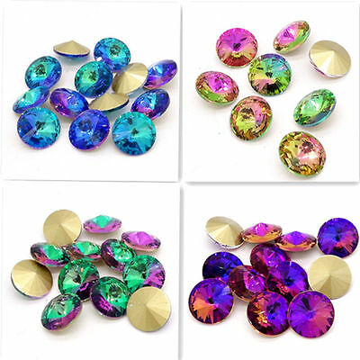 Wholesale new color 20pcs XILION ELEMENTS Crystal glass Rivoli loose Beads 12mm