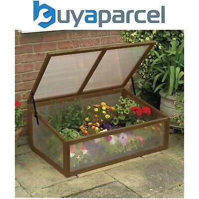 Gardman 08895 Wooden Cold Frame Garden Greenhouse with Polycarbonate Glazing