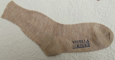 Vintage ankle socks UNUSED school uniform 1960s wool/cotton VIYELLA Shoe 2 1/2-3