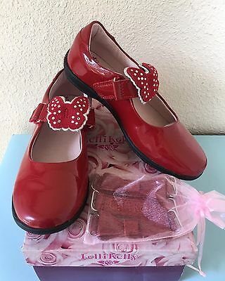 LELLI KELLY Red Patent Nicole Shoes School Dolly Mary Janes 32 1 EEUC LN Worn 1x