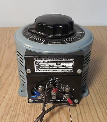 POWERSTAT  126  Variable Transformer, 120 VAC, 140 VAC, 15 A -Tested and Working