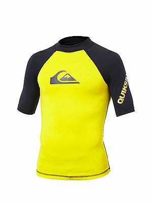 Quiksilver Boys Rash Guard - Yellow - Size 4 - NWT