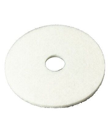 3M White Super Polish Pad 4100, Floor Pad, Machine Use (Case of 5)