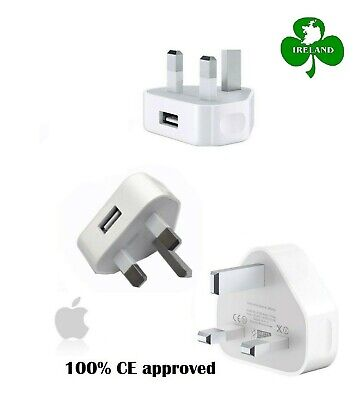 For Apple iPhone 6S 6 5 5S 5C 4S 4 UK AC Plug Wall Mains USB Charger Adapter