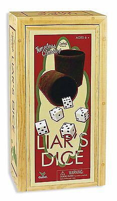 Cardinal Games Liars Dice In Wood Box Retro Game (Brand New, Factory Sealed)
