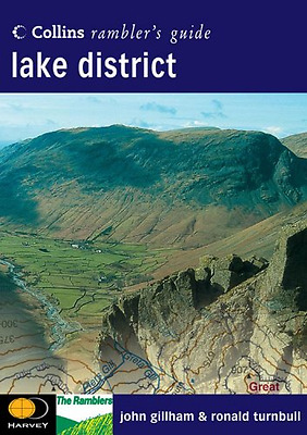 Lake District (Collins Rambler's Guide), Good Condition Book, Ronald Turnbull, J