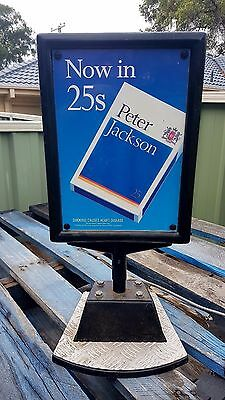 Peter Jackson Cigarettes Lighted Sign, Very Rare Working Condition