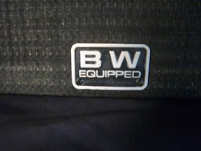 Amplifier Grill Cloth and Frame With Peavey and BW Equipped Logos Man Cave Art