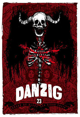 Scrojo Danzig Winds of Plague 2009 Poster House of Blues San Diego Danzig_0902