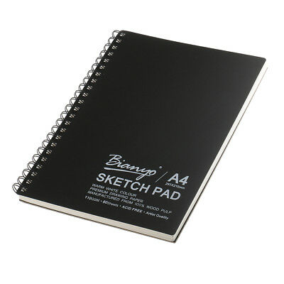 "A4 100 Sheet Black Drawing Essential Artist Paper Pad Sketch Book 11.7""x8.3"""