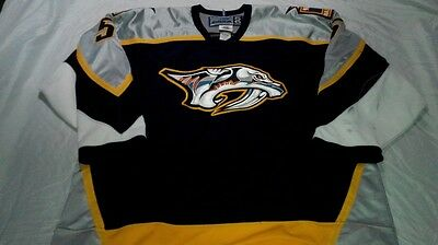 Jan Vopat Nashville Predators Game Worn Used Inaugural Season 1998-99 Jersey