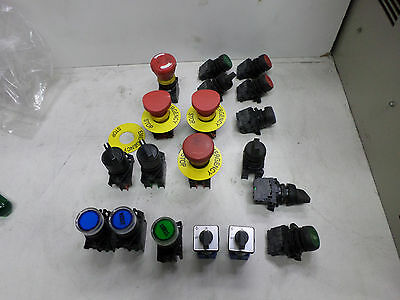 SWITCHES -- BULK LOT as pictured SELECTORS BUTTONS E-STOPS ETC -- QUALITY BRANDS