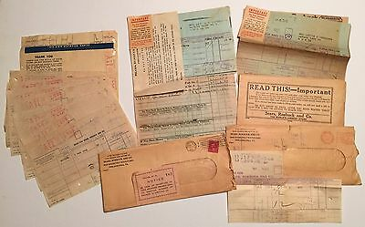 Lot of Sears Roebuck 1912 1925 1930 1937 1939 1940 1942-43 Correspondence & Ads