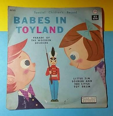 VINTAGE 1950's CHILDREN'S PETER PAN RECORDS - BABES in TOYLAND - WOODEN SOLDIERS