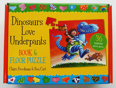 Dinosaurs Love Underpants Book and Jigsaw, Cort, Ben, Freedman, Claire, New