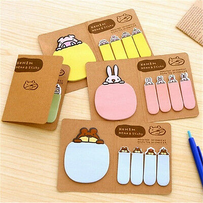 Animal Bunny Rabbit Pig Bear Sheep Sticky Note Index Flag Sticker Memo Post S&U