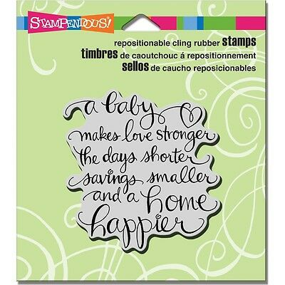"""Stampendous Cling Stamp 4.75""""X4.5"""" -Baby Makes"""