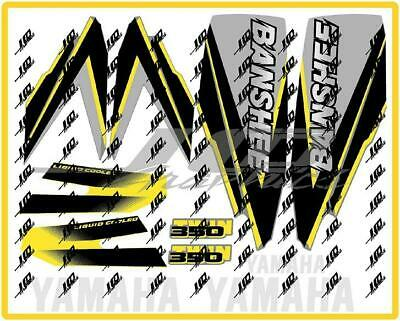 yamaha banshee full graphics decals kit 1998 ... DARK GREY..