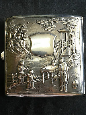 China Chinese Export High Relief Silver Case Box With Wang Hing Hallmark 纯银盒
