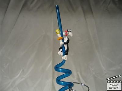Sylvester & Tweety Sipper Straw, Blue; Applause; NEW