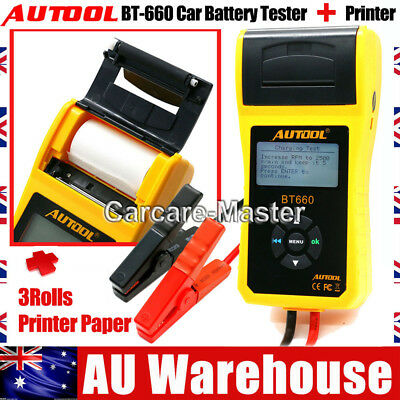 Autool BT-660 Car Truck Battery Tester Analyzer for Flooded, AGM, GEL AU STock