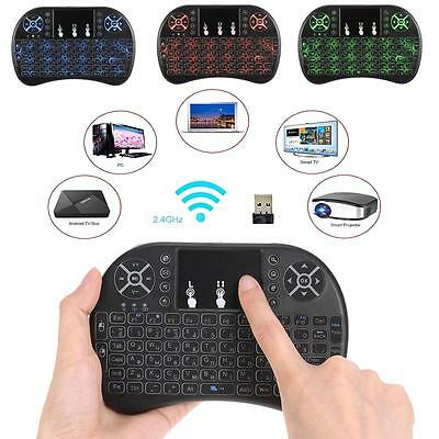 Mini 2.4Ghz Backlit Wireless Remote Control Keyboard for PC Android TV BOX L6X1