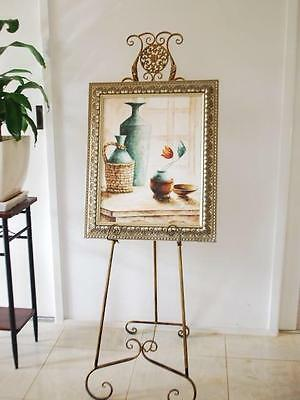 Elegant French Style Scroll Easel Display Wedding Cast Iron Motif BS002