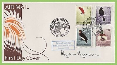 Papua New Guinea 1992 Birds set First Day Cover, signed Magnus Maggnussen