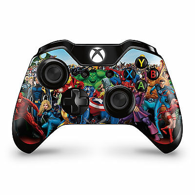 2 x Marvel Xbox One Controller Skins  Full Wrap Vinyl Sticker