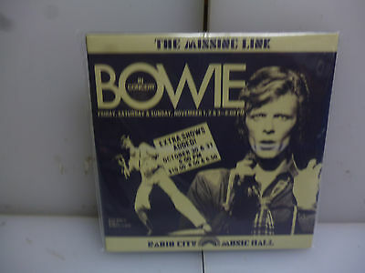 David Bowie-The Missing Link. New York, Usa 1974.-2Cd Digipack-New.sealed.