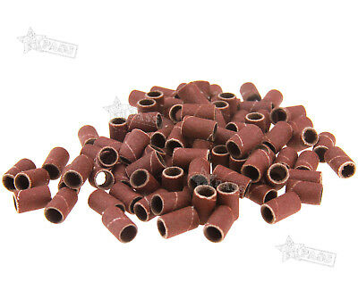100PCS Nail Art Sanding Bands Belt Manicure Pedicure Drill Replacement Bits 180#