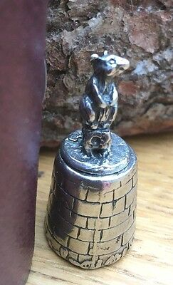 Mouse Pewter Thimble  T20