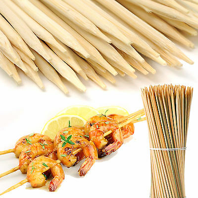 100 Bamboo Wooden Skewers Sticks Bbq Fruit Kebab Fountain 20Cm+30Cm Available!