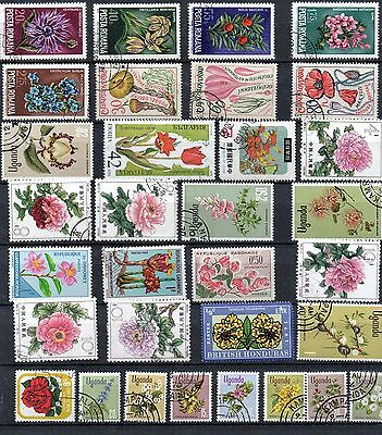 FLOWERS THEATIC STAMP Collection USED  Ref:TS268