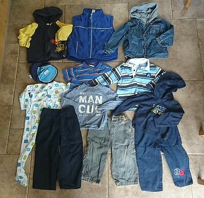 Boys 18-24 Months Bundle - Well Used but Ideal for Play Wear. Coat Trousers Tops