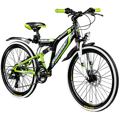 24 Zoll MTB Fully Galano Adrenalin DS Mountainbike STVZO Jugendfahrrad