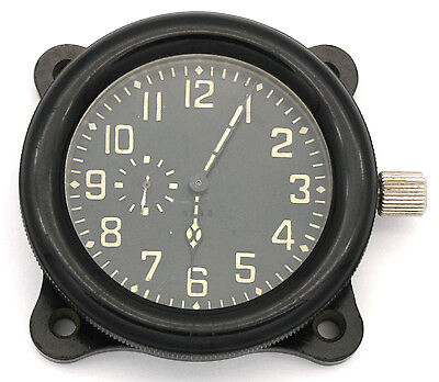 Soviet 40's-made AirForce Cockpit Clock ACO (AChO) for I-16 fighters, ORIGINAL!