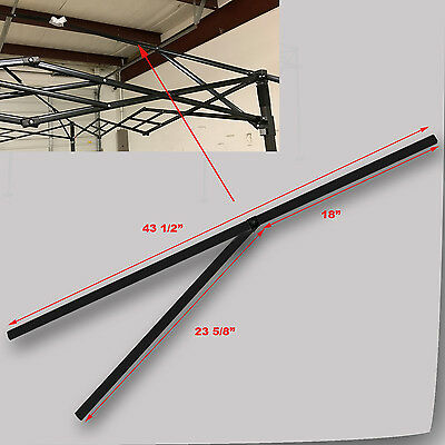 Quik Shade Summit Series 10x10 PEAK TRUSS Bar W/Support Replacement Parts Black & QUIK SHADE Commercial C100 10u0027 x 10u0027 Canopy MIDDLE TRUSS Bar ...